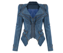 Chic Tuxedo blue jean jacket