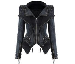 Chic Tuxedo blue jean jacket black