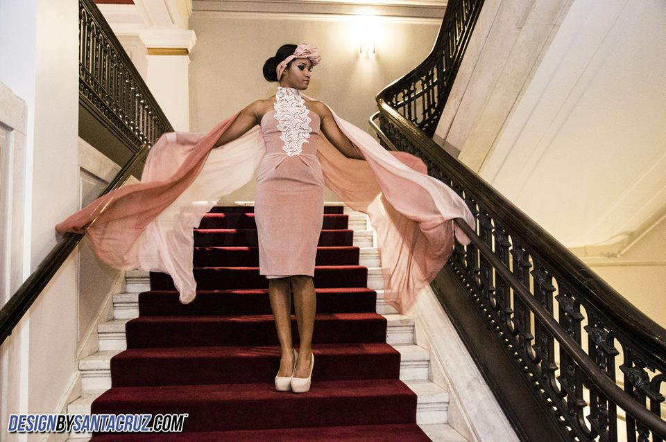 Sobeidy Vidal Latin fashion week at the iconic Carnegie Library with models and