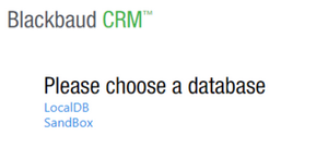Screen Shot from Blackbaud CRM™