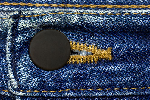 Button Covers - Prevent Shirt Holes (12 pack Black)