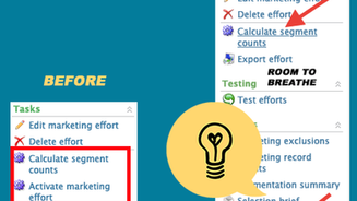 Blackbaud CRM™ Marketing Effort UI Changes to Help You Stay Sane - Giveaway