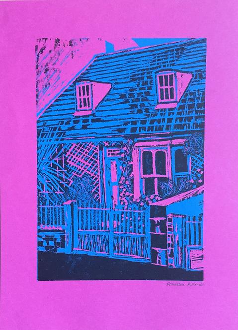 """Andy Warhol Inspired Woodcut Print .1"""