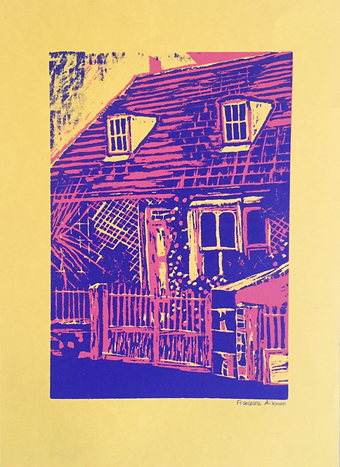 ANDY WARHOL INSPIRED WOODCUT PRINT