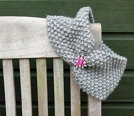 Moss Stitch Headband Free Pattern