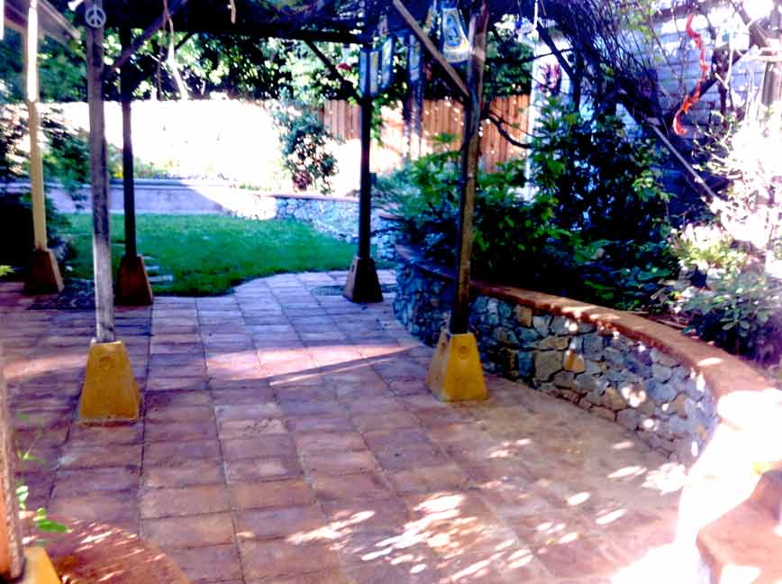 shaded patio
