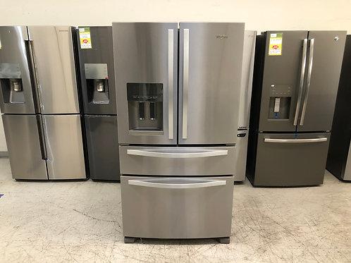 Whirlpool 4-Door French Door Refrigerator 25 cu ft - Stainless Steel