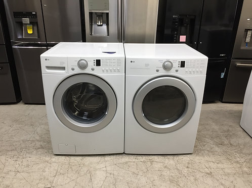 LG Front Load Washer and Electric Dryer Set (Bundle)