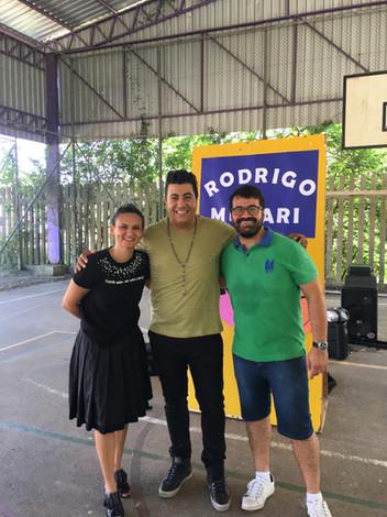 Com educadores da Escola Chapéu do Sol em Porto Alegre