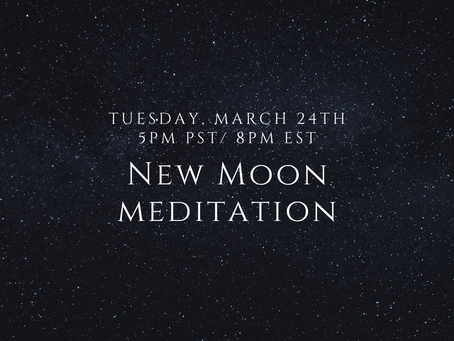 New Moon Meditation - Transcript