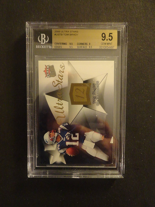 2006 Ultra Stars Tom Brady BGS 9.5