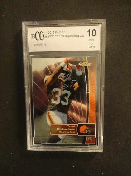 2012 Finest Trent Richardson RC BCCG 10