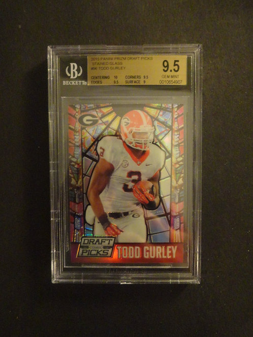 2015 Prizm Draft Todd Gurley Stained Glass Refractor RC BGS 9.5