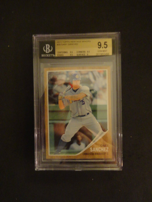 2011 Topps Heritage Minors Gary Sanchez RC BGS 9.5