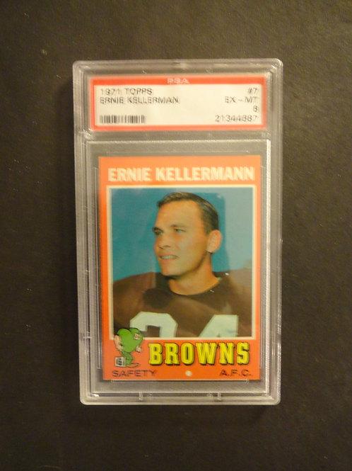1971 Topps #7 Ernie Kellermann PSA 6