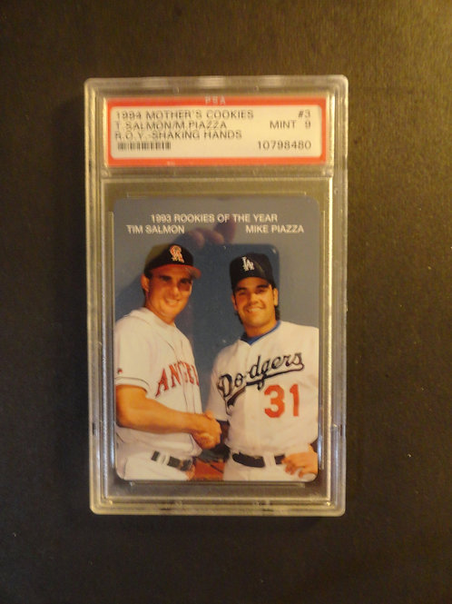 1994 Mothers Cookies Mike Piazza / Tim Salmon RC Mint PSA 9