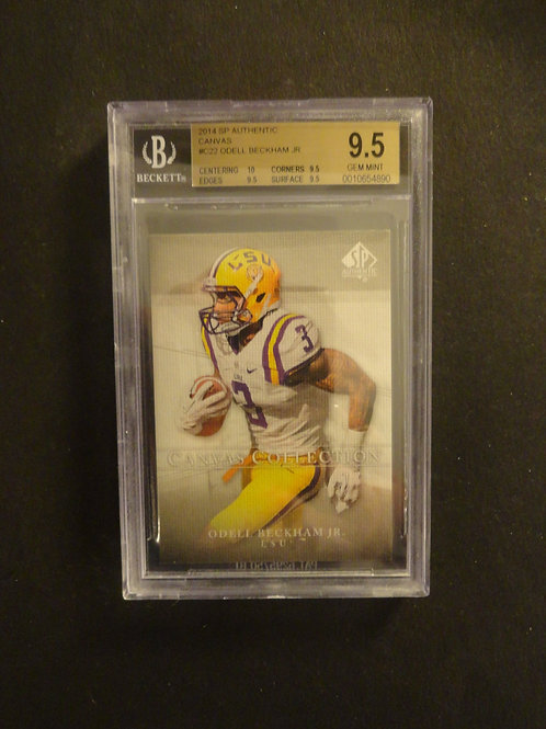2014 SP Authentic Canvas Odell Beckham RC BGS 9.5