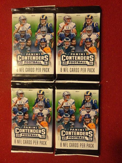 2016 Contenders Football Lot of 4 Retail Packs