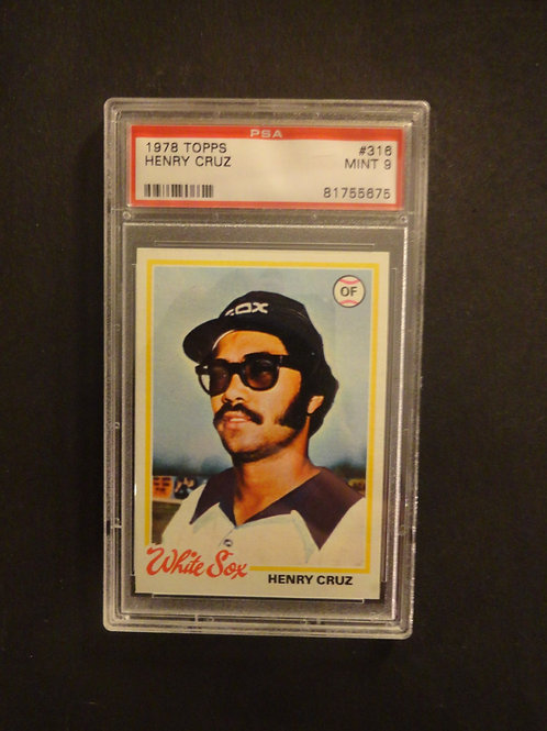 1978 Topps #316 Henry Cruz PSA 9