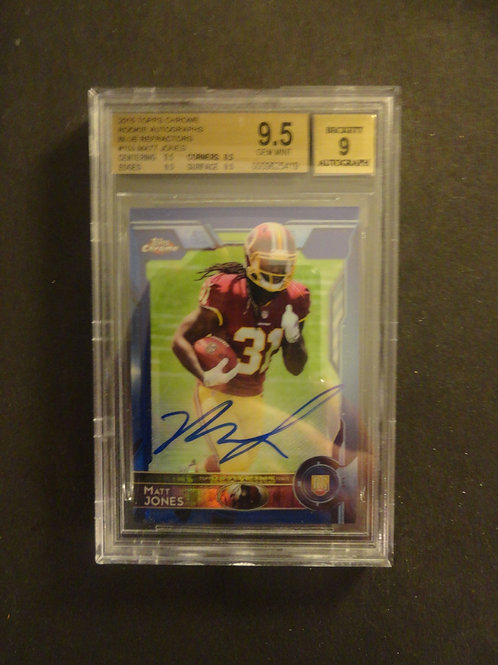 2015 Topps Chrome Matt Jones Blue Refractor RC Auto #/50 BGS 9.5