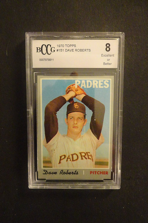 1970 Topps #151 Dave Roberts BCCG 8