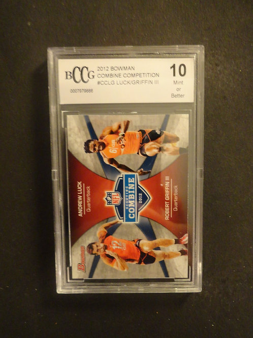 2012 Bowman Andrew Luck / Robert Griffin RC BCCG 10