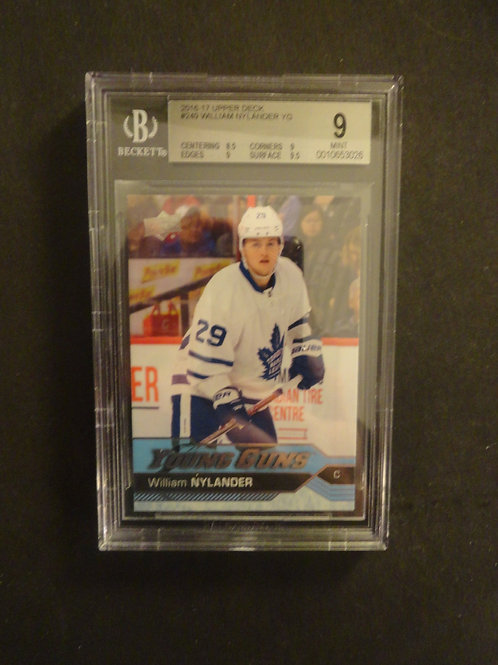 2016 Upper Deck William Nylander Young Guns RC BGS 9