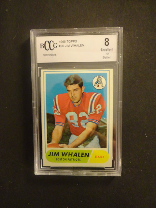 1968 Topps #20 Jim Whalen BCCG 8