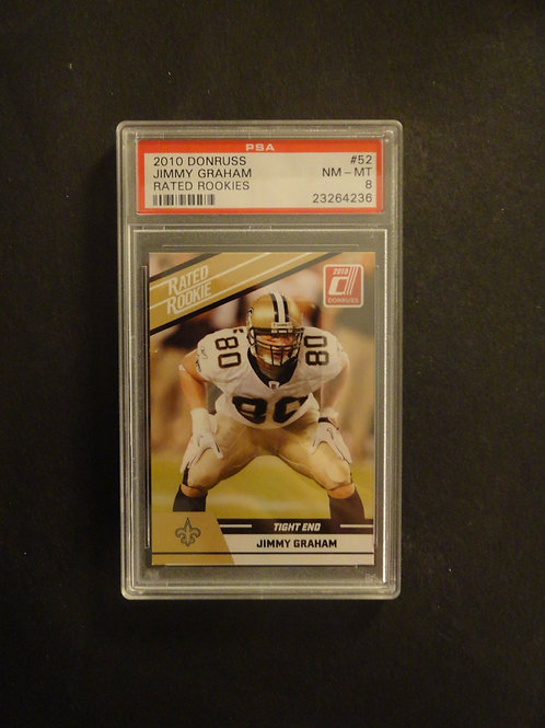 2010 Donruss Rookies Jimmy Graham RC PSA 8