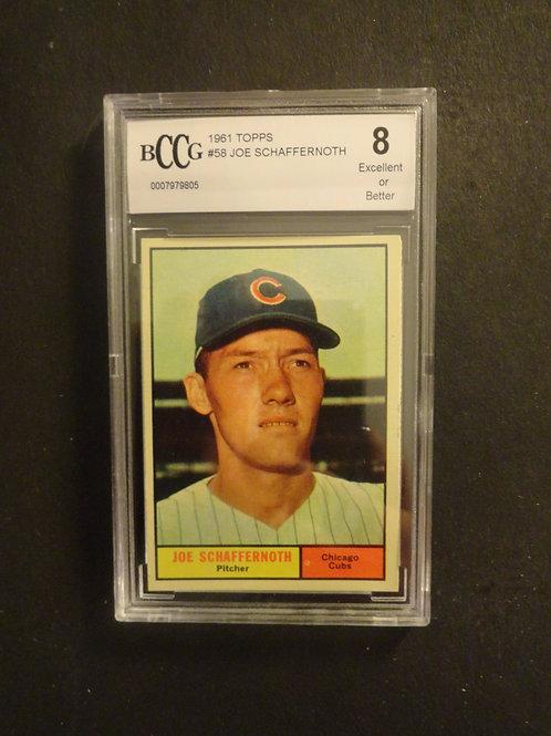 1961 Topps #58 Joe Schaffernoth BCCG 8