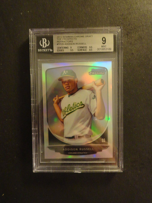 2013 Bowman Chrome Draft Addison Russell Refractor RC BGS 9