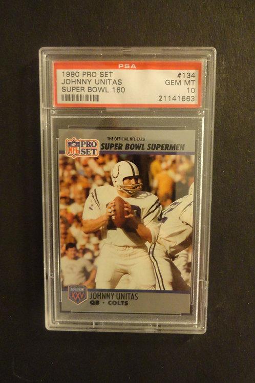 1990 Pro Set Super Bowl #134 Johnny Unitas PSA 10