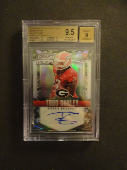 2015 Prizm Draft Todd Gurley Camo Refractor RC Auto BGS 9.5