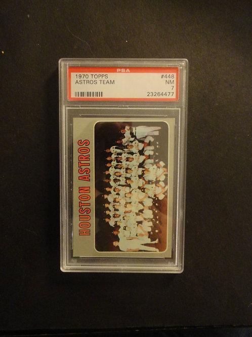 1970 Topps #448 Houston Astros Team PSA 7