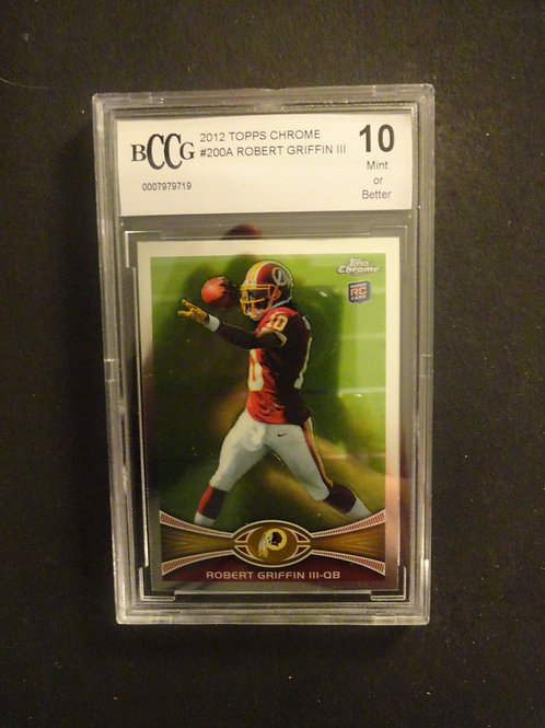 2012 Topps Chrome Robert Griffin RC BCCG 10