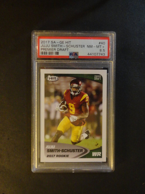 2017 Sage HIT JuJu Smith-Schuster RC PSA 8.5
