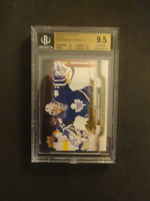 2015 Upper Deck Canvas Garret Sparks Young Guns RC BGS 9.5
