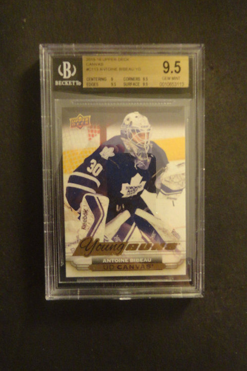 2015 Upper Deck Canvas Antoine Bibeau Young Guns RC BGS 9.5
