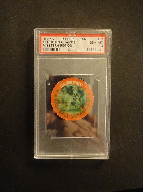 1986 7-11 Slurpee Coin Slugging Champs Baines Parker Western Region PSA 10
