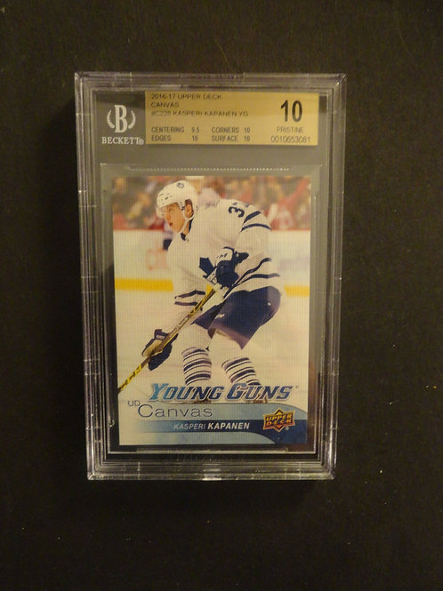 2016 Upper Deck Canvas Kasperi Kapanen Young Guns RC BGS 10