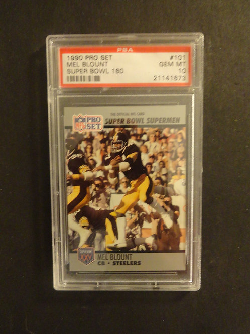 1990 Pro Set Super Bowl #101 Mel Blount PSA 10
