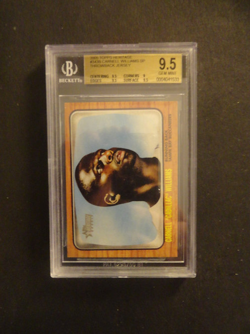 2005 Topps Heritage Carnell Cadillac Williams BGS 9.5