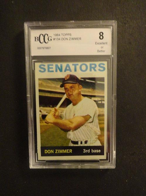 1964 Topps #134 Don Zimmer BCCG 8