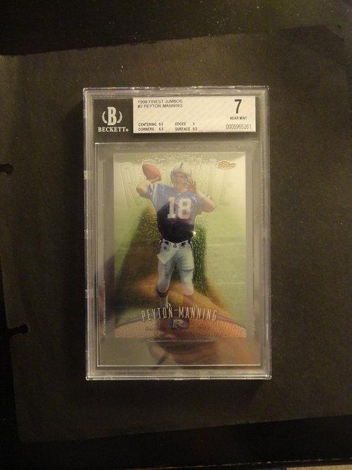 1998 Finest Peyton Manning Jumbo RC BGS 7.5