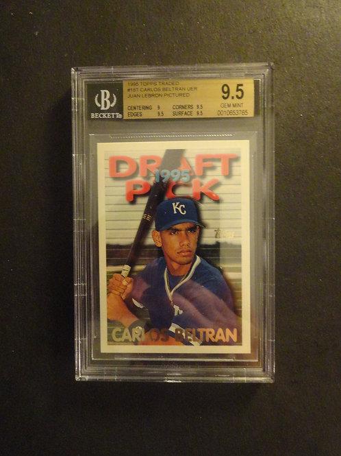 1995 Topps Traded Carlos Beltran RC BGS 9.5