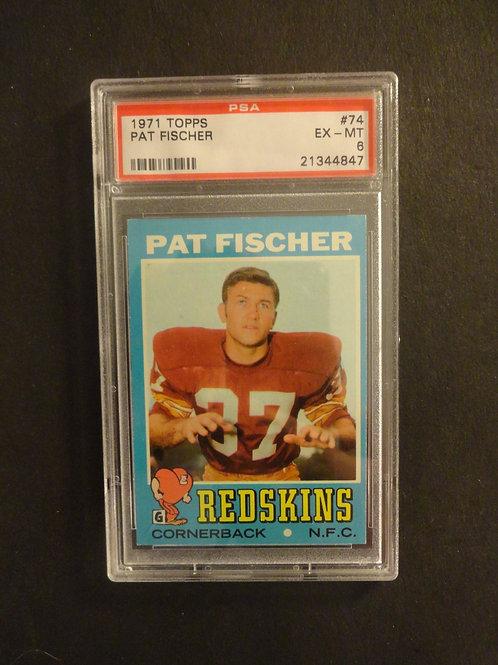 1971 Topps #74 Pat Fischer PSA 6