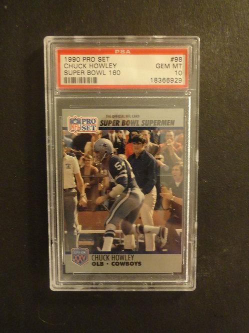 1990 Pro Set Super Bowl #98 Chuck Howley PSA 10