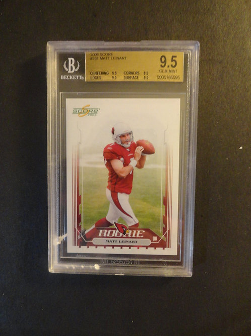 2006 Score Matt Leinart RC Gem Mint BGS 9.5