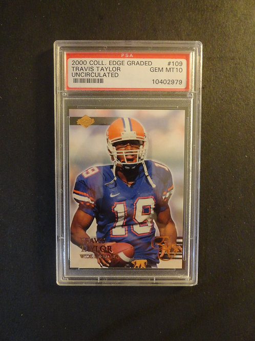 2000 Collector's Edge Uncirculated Travis Taylor RC /5000 PSA 10
