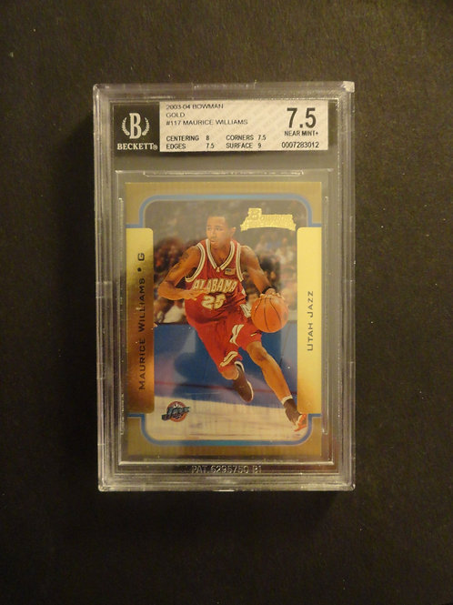 2003 Bowman Gold Maurice Williams RC BGS 7.5